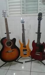 Vendo ou troco guitarra Epiphone,Tagima e ViolãoHolfman
