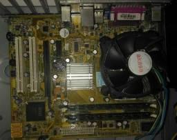 Placa mãe com Intel Core 2 Duo e 4GB de Ram 99R$