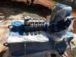 Unidade hidráulica completa + peças para montagem uma maquina de blocos