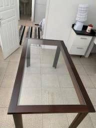 Mesa de vidro + cadeiras