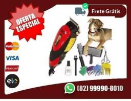 Aproveita-produto.Novo>Kit Completo Tosa Cachorro Cães Maquina Cortar Pelo Animal