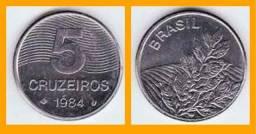 Moeda 5 cruzados 1984