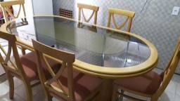 Mesa de luxo de madeira e tampo de luxo
