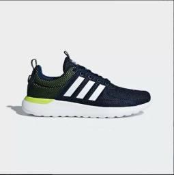Tênis Adidas Cf Lite Racer Masculino - Marinho e Verde Limão 9d201c7568f0f