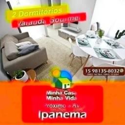 Único Apartamento 45 mts por 133 MIL na região com Piscina