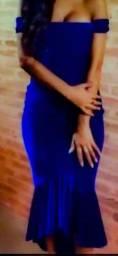 Vestido azul Royal mulet