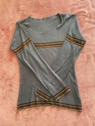 Blusa manga comprida cinza Antishock