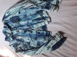 Jaqueta jeans camuflada