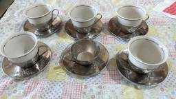 Xícaras de café procelana santa cruz ANTIGA