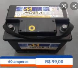 Bateria moura 60 amperes R $ 99,00