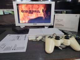 Playstation 2 Branco Especial Edition Desbloqueado Com Monitor
