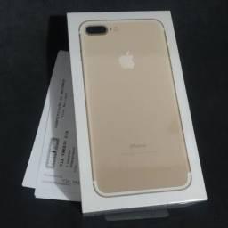 IPhone 7 Plus 32GB Dourado lacrado com Nota