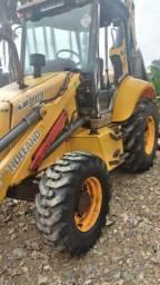 Retro escavadeira New holand lb90 4x4