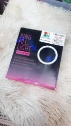 ILUMINADOR DE LED RING LIGHT 6 POLEGADAS COM TRIPÉ 12 CM