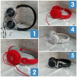 Fone de ouvido 5 modelos