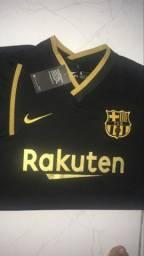 Camisa Barcelona preta/dourado 2021