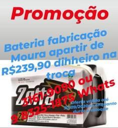 Promoção Bateria Zetta Fabrição Moura Por 239,90