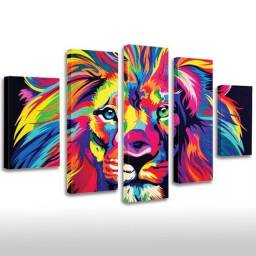 Quadro decorativo do leão