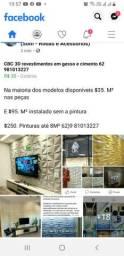 Gesso 3D revestimentos 62 9  * cimento
