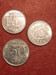 3 Unidades de Cruzeiro Real. Circuladas e Recolhidas sem valor facial