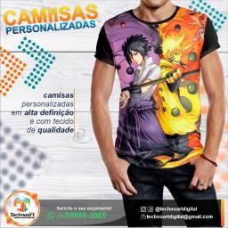 Kit 5 Camisas Animes