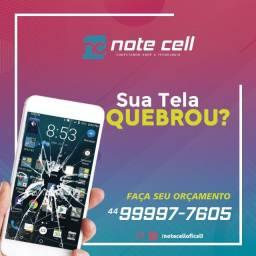 Troca de tela do seu aparelho - Faça seu orçamento - Note cell