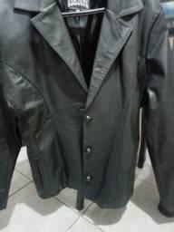Jaqueta em couro legítimo. Feminina tamanho G