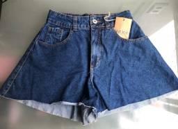 Short jeans godê feminino