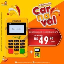 Maquininha de cartão Minizinha chip 2 + Minizinha NFC. - PagSeguro / Pagbank