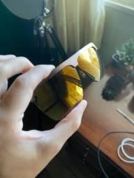Óculos de Sol Chilli Beans Carlinhos Brown Espelhado Dourado