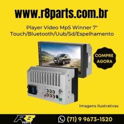 "Mp5 Player Vídeo Winner 7"" Touch/Bluetooth/Uub/Sd/Espelhamento"