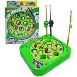 Jogo Pega Peixe Brinquedo Pescaria Infantil Divertido Pilha