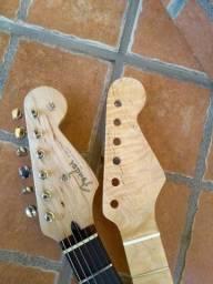 Braço Guitarra Stratocaster Em Flamed Maple One Piece