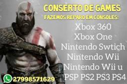 Tecnico Vídeo Games/Orçamento na Hora/consoles e controle/Assistência na Loja.