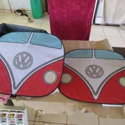 Bloqueador solar desenho de kombi para parabrisa de carros, importado