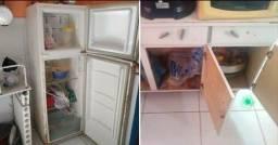 Armário e geladeira