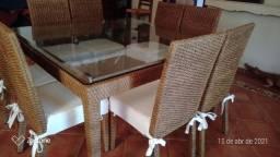 Mesa de jantar junco natural