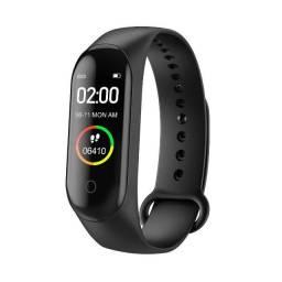 M4 relógio inteligente monitorador saúde fitness pressão sanguínea, frequência cardíaca