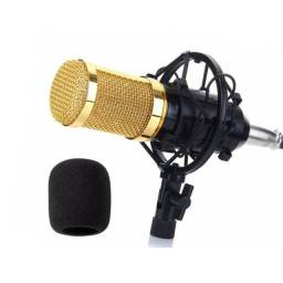 Microfone Condensador Profissional Conexão XLR Dourado BM 800 - Loja Natan Abreu