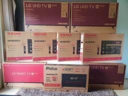 "Smart TVs de 32"" à 75"" Polegadas"