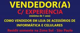 Vendedor(a) Loja de Acessórios de Informática e celulares