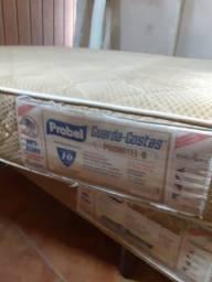Cama box e colchão tamanho viúva 1,20 x 2,00 usada ___ entrego