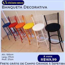 Banquetas decorativas cores / Novo direto de fábrica
