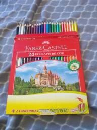 Título do anúncio: 24 Lápis de Cor Faber-Castell