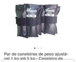 Kit caneleiras ajustáveis  de 1kg a 5kg + colchonete
