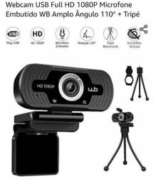 Webcam USB Full HD 1080P Microfone Embutido WB Amplo Ângulo 110° + Tripé<br><br>