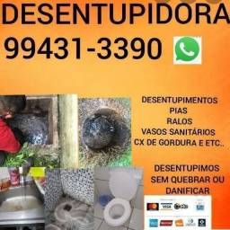 DESENTUPIDORA BOMBEIRO HIDRÁULICO E ENCANADOR