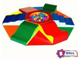 Piscina de Bolinhas/ Xícara/ Túnel/ Puffs/ Mesa de Lego/Tombo Legal