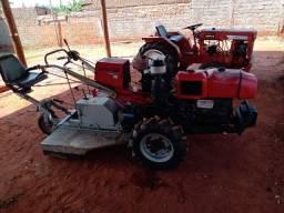 Mini Trator com Rotativa e Roçadeira