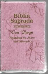 OLX0021 Biblia Sagrada Letra Gigante Com Harpa e Ziper lacrada